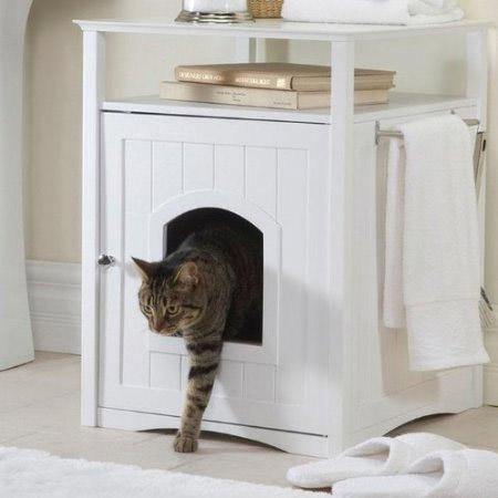 cabinet litter box