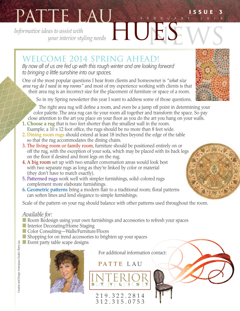 Tips for Choosing an Area Rug by Patte Lau